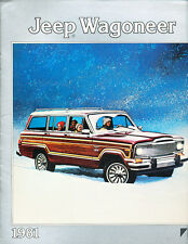1981 Jeep Wagoneer 12-page Canada Car Sales Brochure Catalog - Limited