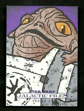 Topps Star Wars Galactic Files 2 Artist Sketch Card 1/1 JABBA By JOE HOGAN