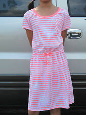 53% OFF! CIRCO JUNIOR NEON PINK STRIPED TEE SHIRT DRESS 14-16 YRS BNWT US$14.99