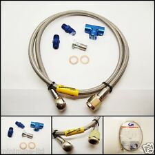Classic Mini Braided Turbo Oil Feed Assembly Hose cooper rover austin morris bmc