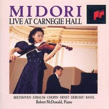 Midori - Live At Carnegie Hall Piano: Robert Mcdonald BEETHOVEN STRAUSS CHOPIN
