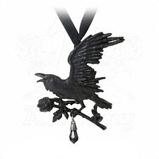 Necklace Collier Alchemy Gothic Harbinger Black Raven Corbeau Noir Gothique