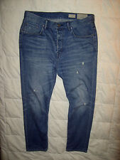 AllSaints Spitalfields Blythe taper button fly jeans denims trousers W34-36 L32