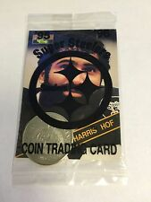 ~Franco Harris~'95 '96 SUPER STEELERS~COIN TRADING CARD~GIANT EAGLE PROMOTION