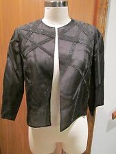 Akris Beaded Black Silk Jacket Size 6