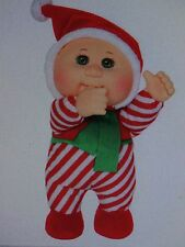 """Cabbage Patch Kids Cuties Holiday Helpers #25 Christie Candy Cane 9"""" NWT"""