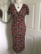 Moschino Silk Floral Vintage Inspired Tea Dress 10