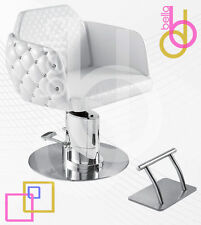 New! D-Cute Faux Crystal Studded Salon Styling Chair w/ Fully Electric Pump-WHTE