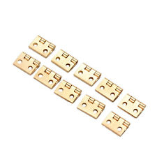 10Pcs Mini Small Metal Hinge for 1/12 House Miniature Cabinet Furniture SP