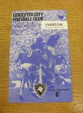 02/04/1966 Leicester City v Everton  (Small Piece Missing Inside).  We are pleas