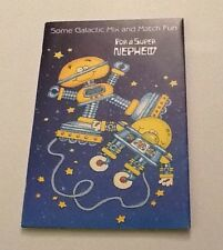 Vintage Greeting Card Birthday Robot Friends Anthropomorphic Space