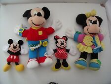 Mickey & minnie mouse apprendre à robe toys + deux bean bag toys-disney