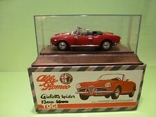 TOGI ALFA ROMEO GIULIETTA SPIDER 1300 - RED 1:23 - NEAR MINT IN BOX