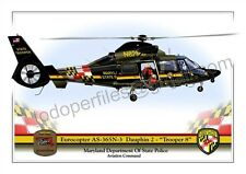 Eurocopter AS-365N-3 Dauphin 2 - Maryland State Police-Helicopter Poster Profile