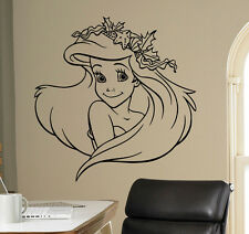 Disney Princess Ariel Vinyl Decal Mermaid Vinyl Sticker Cartoon Home Interior 8