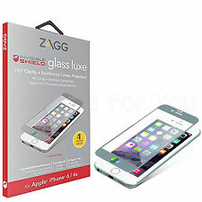 Genuine Zagg Full Front HD Glass Luxe Screen Protector For iPhone 6 6S -Titanium