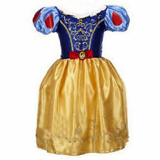 Girls Princess Dress Aurora Snow White Rapunzel Party Fancy Xmas Gift Dress New#