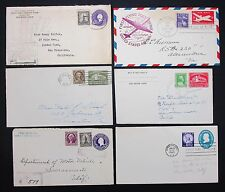 Us postal Stationery Six covers registered FDC muy cosa 6 cartas i-6453