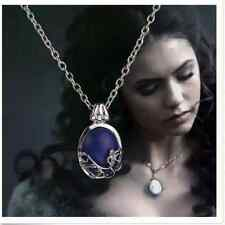 Vampire Diaries Katherine Anti-Sunlight Natural Lapis Lazuli Chain Pendant
