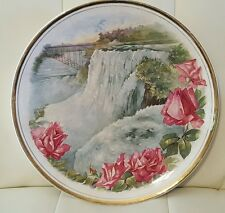 Vintage Antique Dresden china Waterfall Plate Collectible serving roses
