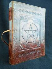 Large Pagan Wicca PENTACLE Handmade Leather Book of Shadows Journal Diary