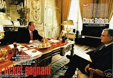 Coupure de Presse Clipping 2002 (10 pages) Chirac Raffarin Ticket Gagnant