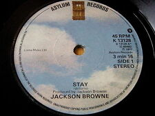 "JACKSON BROWNE - STAY    7"" VINYL"
