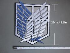 Attack on Titan Cosplay Scouting Legion Recon Corps Patch Embroidery #Bigger