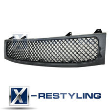 Black Carbon Fiber Look ABS Mesh Grille Grill with Shell for 04-12 Nissan Titan