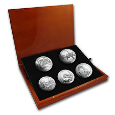 2014 5 oz Silver ATB Complete 5 Coin Set - Elegant Display Box - SKU #85540