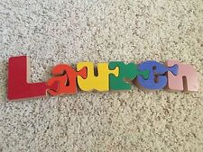 Wooden puzzle personalized name Lauren