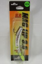 "Yakima Bait Mag Lip 3.5"" Metallic Silver Chartreuse Head Fishing Lure Crankbait"