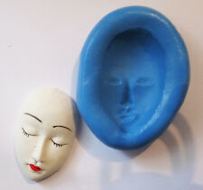 face Silicone Push Mold Polymer clay Resin Miniature plaster mould fondant wax