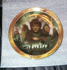 Lord of the Rings Bradford Exchange PLATE decorative art LOTR FOTR Fellowship