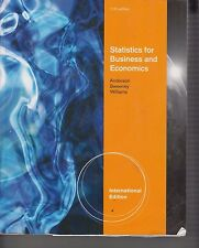 Statistics For Business and Economics 11th Edition IE 2011 Paperback (E1-57)