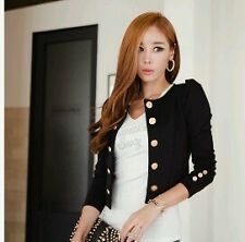 Whole Sale New Women's Fashion Long Sleeve O-Neck Thin Casual Blazer Short Coat