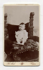 PHOTO CDV Carte de visite Enfant Bébé Ph. ABEL TOURS vers 1880 Vintage