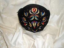 ~ vintage 1980s noir velours bijoux/perles/broderie sac par sanjo