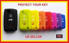 PEUGEOT EXPERT PARTNER CITROEN C4 GRAND SILICONE COVER CASE 3 BUTTON FLIP KEY 4