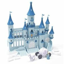 Disney Magic Princess Blue Cinderella Fairytale Castle Pumpkin Carriage Playset
