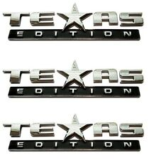 (Set of THREE) TEXAS EDITION EMBLEM CHEVY SILVERADO SIERRA TRUCK UNIVERSAL DECAL