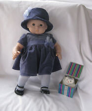 American Girl Bitty Baby Winter Party Outfit Dress Hat Shoes + Kitten in Box Toy