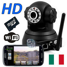 IP CAMERA IPCAMERA WIFI MOTORIZZATA ANDROID IPHONE LED IR TELECAMERA HD SD 4GB a