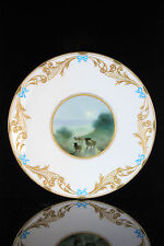 ROYAL DOULTON TIFFANY Co WINTER SHEEP SCENE PLATE F WALKLOTT C.1902+