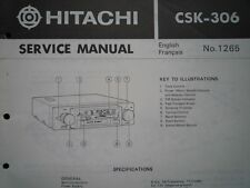 HITACHI CSK-306 Car Cassette stereo radio Service manual wiring parts diagram