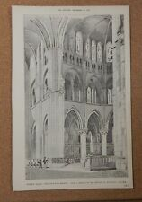 Antique Architects print Church of Notre Dame Chalon Sur marne the builder.1887