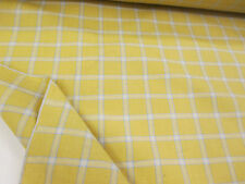 Sand Colour Checked Tartan Plaid 100% Cotton Fabric.