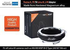 Adapter Pentax K PK Lens TO Leica M L/M Camera mount M4 M5 M6 M7 M8 M9 220 240