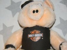 vtg 90s HARLEY DAVIDSON MOTORCYCLES plush stuffed animal hog 1991 biker pig