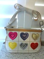 BRIGHTON NWT  ART HEART SMALL LEATHER POUCH/PURSE WITH LONG LEATHER STRAP